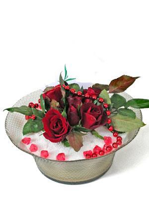 Nevşehir çiçek satışı  EN ÇOK Sevenlere 7 adet kirmizi gül mika yada cam tanzim
