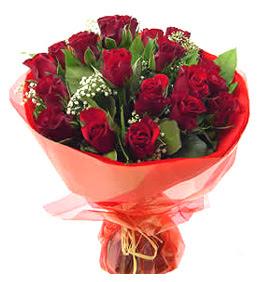 Nevşehir internetten çiçek satışı  11 adet kimizi gülün ihtisami buket modeli