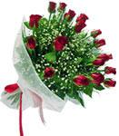 Nevşehir çiçek yolla  11 adet kirmizi gül buketi sade ve hos sevenler