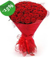 51 adet kırmızı gül buketi özel hissedenlere  Nevşehir çiçek gönderme sitemiz güvenlidir