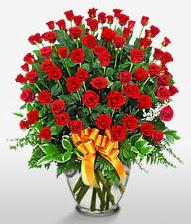 Görsel vazo içerisinde 101 adet gül  Nevşehir ucuz çiçek gönder