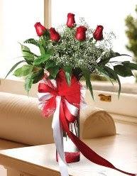 Camda 5 kırmızı gül tanzimi  Nevşehir kaliteli taze ve ucuz çiçekler