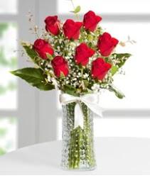 7 Adet vazoda kırmızı gül sevgiliye özel  Nevşehir çiçek gönderme sitemiz güvenlidir