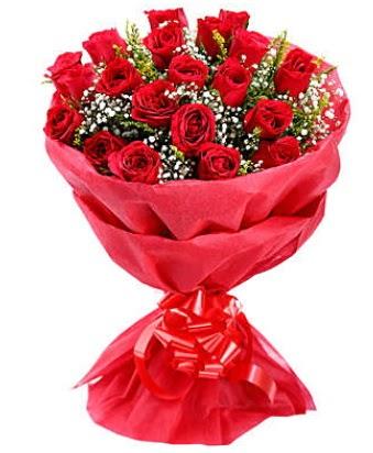 21 adet kırmızı gülden modern buket  Nevşehir çiçek mağazası , çiçekçi adresleri