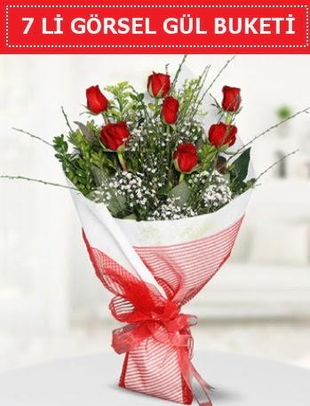 7 adet kırmızı gül buketi Aşk budur  Nevşehir güvenli kaliteli hızlı çiçek