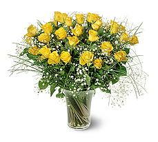Nevşehir çiçek gönderme sitemiz güvenlidir  15 adet sarigül mika yada cam vazoda