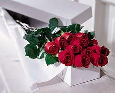 Nevşehir güvenli kaliteli hızlı çiçek  özel kutuda 12 adet gül