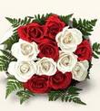 Nevşehir yurtiçi ve yurtdışı çiçek siparişi  10 adet kirmizi beyaz güller - anneler günü için ideal seçimdir -