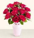 Nevşehir çiçek yolla , çiçek gönder , çiçekçi   10 kirmizi gül cam yada mika vazo tanzim