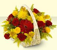 Nevşehir çiçek siparişi sitesi  sepette mevsim çiçekleri
