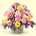 Nevşehir çiçekçi mağazası  sepet içerisinde gül ve mevsim