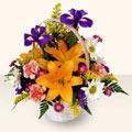 Nevşehir çiçek siparişi sitesi  sepet içinde karisik çiçekler