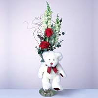 2 adet gül ve panda özel  Nevşehir İnternetten çiçek siparişi