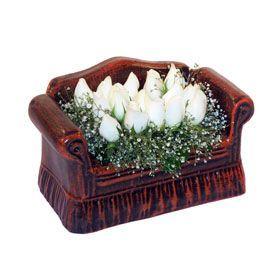 seramik içerisinde 11 gül  Nevşehir çiçek yolla , çiçek gönder , çiçekçi