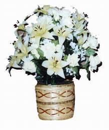 yapay karisik çiçek sepeti   Nevşehir online çiçek gönderme sipariş