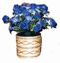 yapay mavi çiçek sepeti  Nevşehir hediye çiçek yolla