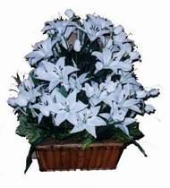 yapay karisik çiçek sepeti   Nevşehir çiçek , çiçekçi , çiçekçilik