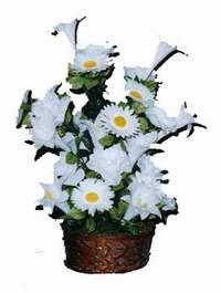 yapay karisik çiçek sepeti  Nevşehir çiçek satışı