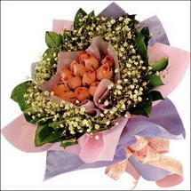 11  adet  gül ve   elyaflar   Nevşehir İnternetten çiçek siparişi