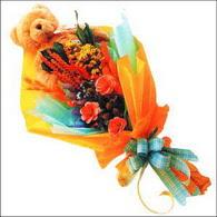 ayicik gül ve kir çiçekleri   Nevşehir İnternetten çiçek siparişi