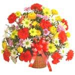 karisik renkli çiçek sepet   Nevşehir çiçek online çiçek siparişi