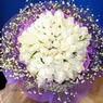 71 adet beyaz gül buketi   Nevşehir yurtiçi ve yurtdışı çiçek siparişi