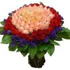 71 adet renkli gül buketi   Nevşehir online çiçekçi , çiçek siparişi