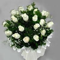 Nevşehir çiçek yolla , çiçek gönder , çiçekçi   11 adet beyaz gül buketi ve bembeyaz amnbalaj