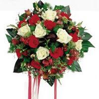 Nevşehir online çiçekçi , çiçek siparişi  6 adet kirmizi 6 adet beyaz ve kir çiçekleri buket