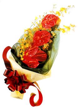 özel 5 adet antorium buketi   Nevşehir çiçek online çiçek siparişi