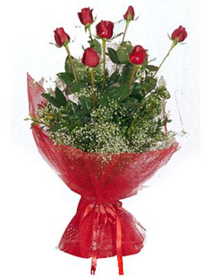 Nevşehir çiçek siparişi vermek  7 adet gülden buket görsel sik sadelik