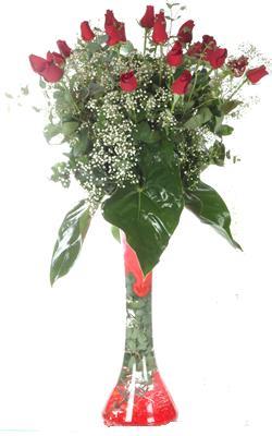 Nevşehir çiçekçi mağazası  19 ADET GÜL VE FIL CAM AYAGI