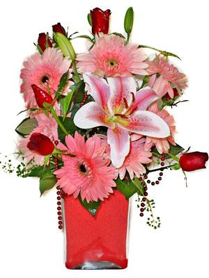 Nevşehir ucuz çiçek gönder  karisik cam yada mika vazoda mevsim çiçekleri mevsim demeti