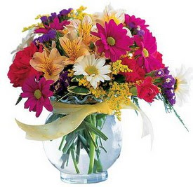 Nevşehir çiçek yolla  cam yada mika içerisinde karisik mevsim çiçekleri