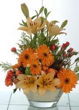 Nevşehir çiçek siparişi vermek  cam yada mika vazo içinde karisik mevsim çiçekleri