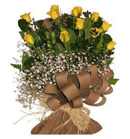 Nevşehir çiçek servisi , çiçekçi adresleri  9 adet sari gül buketi