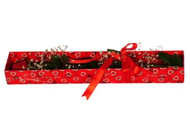 Nevşehir kaliteli taze ve ucuz çiçekler  kutu içerisinde 1 adet kirmizi gül