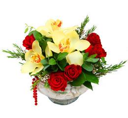 Nevşehir çiçek mağazası , çiçekçi adresleri  1 kandil kazablanka ve 5 adet kirmizi gül