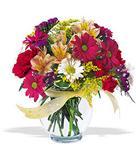 Nevşehir yurtiçi ve yurtdışı çiçek siparişi  cam yada mika vazo içerisinde karisik kir çiçekleri