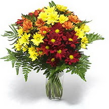 Nevşehir çiçek gönderme sitemiz güvenlidir  Karisik çiçeklerden mevsim vazosu