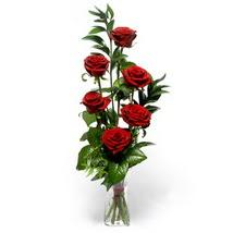 Nevşehir çiçek gönderme sitemiz güvenlidir  cam yada mika vazo içerisinde 6 adet kirmizi gül