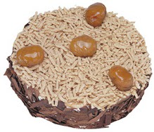 Kestahaneli yas pasta 4 ile 6 kisilik pasta  Nevşehir çiçek gönderme sitemiz güvenlidir