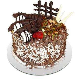 4 ile 6 kisilik çikolatali yas pasta  Nevşehir cicek , cicekci