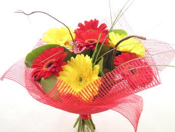 9 adet gerbera çiçeklerinden buket  Nevşehir güvenli kaliteli hızlı çiçek