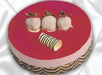 pasta siparisi 4 ile 6 kisilik yas pasta çilekli yaspasta  Nevşehir çiçek siparişi vermek