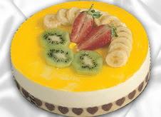 pasta gönderme 4 ile 6 kisilik yas pasta muzlu yaspasta  Nevşehir online çiçek gönderme sipariş