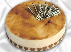 taze pasta 4 ile 6 kisilik yas pasta karamelli yaspasta  Nevşehir çiçek gönderme