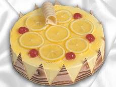 taze pastaci 4 ile 6 kisilik yas pasta limonlu yaspasta  Nevşehir çiçek , çiçekçi , çiçekçilik