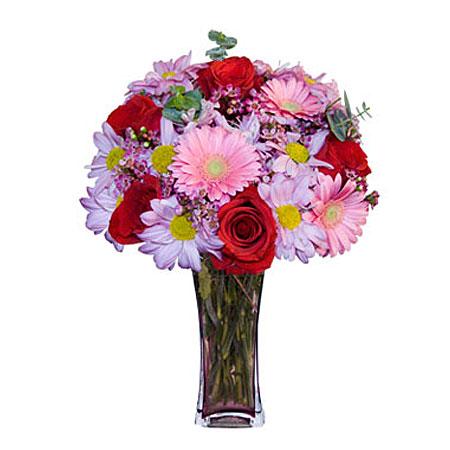 Görsel hediye karisik cam mevsim demeti  Nevşehir İnternetten çiçek siparişi