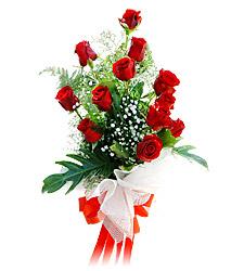 11 adet kirmizi güllerden görsel sölen buket  Nevşehir çiçek satışı